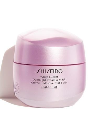 Shiseido Shiseido White Lucent Overnight Cream & Mask Yoğun Nemlendiren Ve Koyu Lekeleri Onaran Nemlendirici 75 ml Renksiz